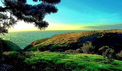 Torrey Pines Painting - Ellentown - La Jolla by Russ Harris