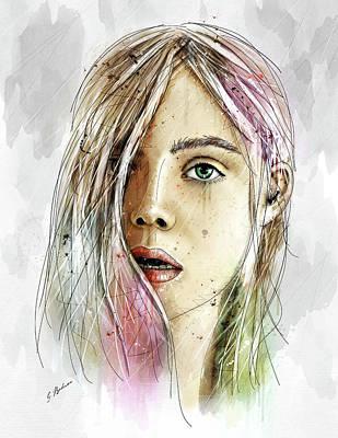 Beautiful Faces Digital Art - Elliannah La Lumire Du Printemps by Gary Bodnar