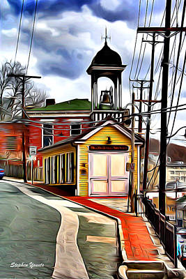 Md Digital Art - Ellicott City Fire Museum by Stephen Younts