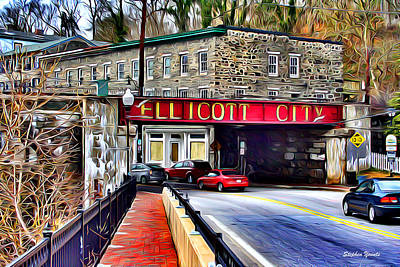 Store Digital Art - Ellicott City by Stephen Younts