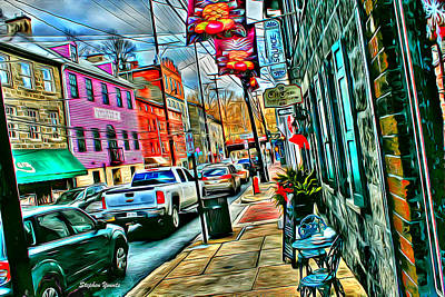 Ellicott City Street Art Print