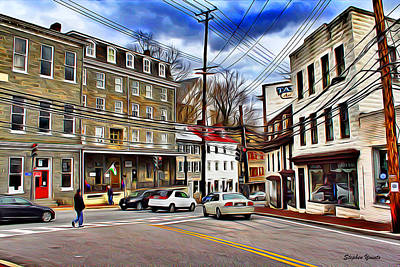 Md Digital Art - Ellicott City Streets by Stephen Younts