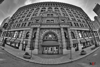 Black And White Photograph - Ellicott Square Building Bw by Michael Frank Jr