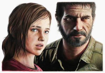 Drawing - Ellie And Joel by David Dias
