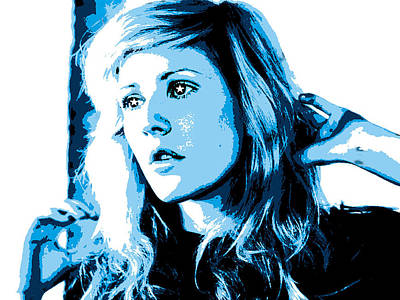 Digital Art - Ellie Goulding Starry Eyed by Brad Scott