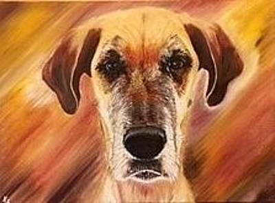 Great Dane Oil Painting - Ellie by Karen Fonda