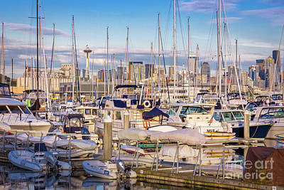 Photograph - Elliot Bay Harbor Seattle by Jerry Fornarotto