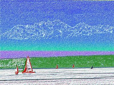 Elliott Bay Sail Art Print by Tim Allen