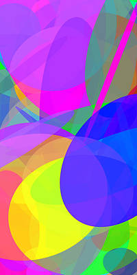 Colorful Abstract Digital Art - Ellipses 13 by Chris Butler