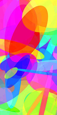Colorful Abstract Digital Art - Ellipses 2 by Chris Butler