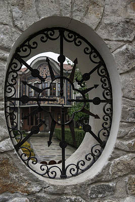 Photograph - Elliptic View - Beautiful Home Through A Fence Window by Georgia Mizuleva