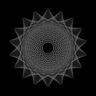 Elliptical Mesh IIik Print by Robert Krawczyk