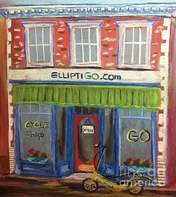 Painting - Elliptigo Brick And Mortar by Francois Lamothe