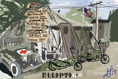 Painting - Elliptigo  In The Army by Francois Lamothe