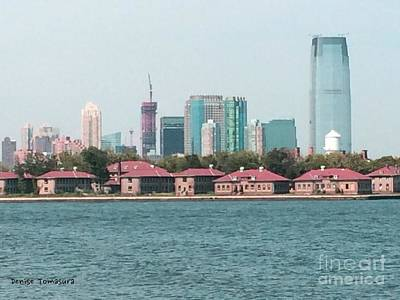 Painting - Ellis Island And Nyc by Denise Tomasura
