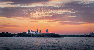 Photograph - Ellis Island At Sunset by Frank Mari