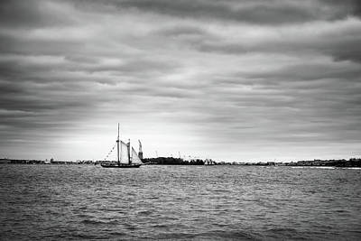 Photograph - Ellis Island Crossing by TL  Mair