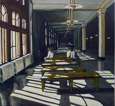 Ellis Island Painting - Ellis Island by George Grace