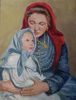 Painting - Ellis Island Madonna by Sandra Nardone
