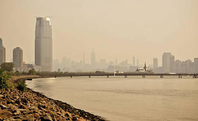 Mixed Media - Ellis Island Pier by Trish Tritz