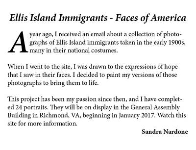 Painting - Ellis Island Project by Sandra Nardone
