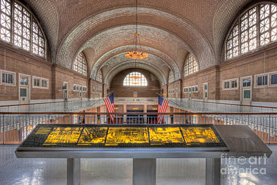 Photograph - Ellis Island Registry Room I by Clarence Holmes