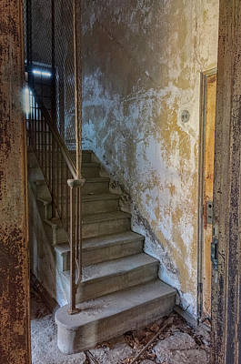 Photograph - Ellis Island Stairs by Tom Singleton