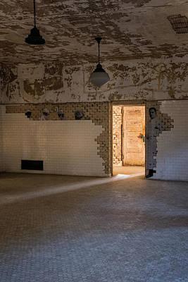 Photograph - Ellis Lighted Doorway by Tom Singleton