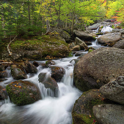 Photograph - Ellis River New Hampshire Square by Bill Wakeley