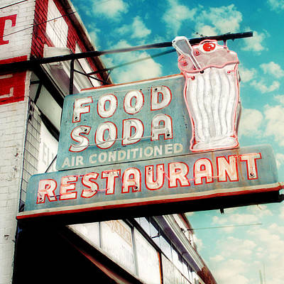 Hop Photograph - Elliston Place Soda Shoppe - Square Crop by Amy Tyler