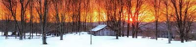 Photograph - Ellsworth Barn Sunset by John Vose