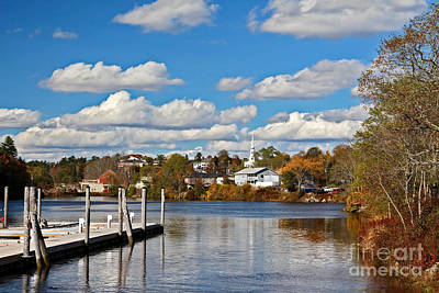 Photograph - Ellsworth In The Fall by Karin Pinkham