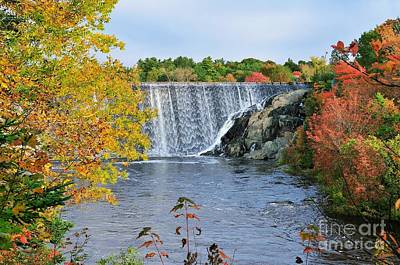 Photograph - Ellsworth, Maine Dam by Debbie Stahre