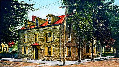 Elmendorf Tavern, Kingston N Y, 1910 Art Print