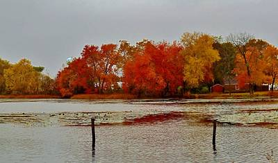 Photograph - Elmer Lake In Autumn by Ed Sweeney
