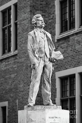 Photograph - Elmira College Mark Twain Statue by University Icons