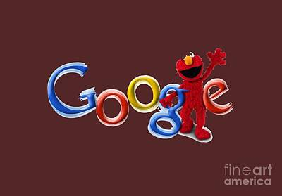 Elmo Google T-shirt Art Print