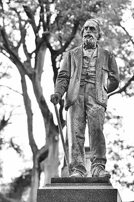 Elmwood Cemetery Photograph - Elmwood Cemetery - Man With Cane by Jon Woodhams