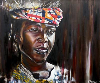 Youthful Painting - Elodie - African Lady by Kay Ashton