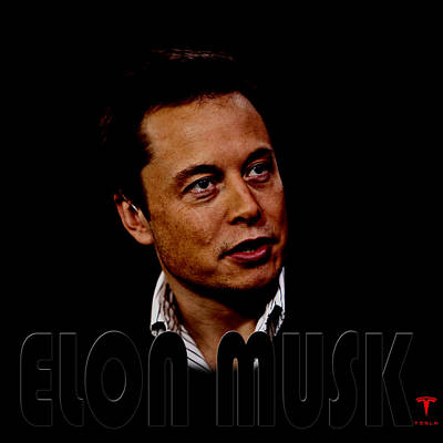 Photograph - Elon Musk 3 by Andrew Fare