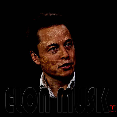 Photograph - Elon Musk 4 by Andrew Fare