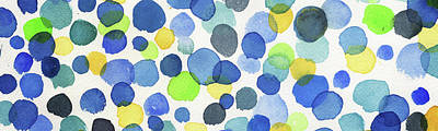 Painting - Elongated Abstract Happy Dots II by Irina Sztukowski