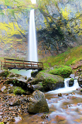 Elowah Photograph - Elowah Falls And The Bridge by Jeff Swan