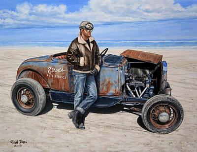 Hot Rod Wall Art - Painting - Elrod by Ruben Duran