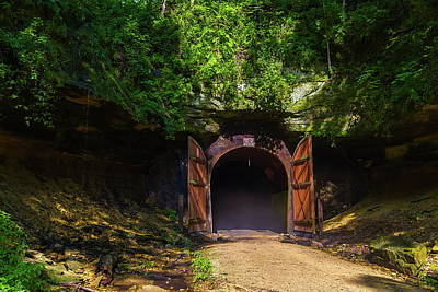 Photograph - Elroy-sparta State Trail Tunnel #1 by Chuck De La Rosa