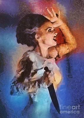 Dracula Painting - Elsa Lanchester, Bride Of Frankenstein by Mary Bassett