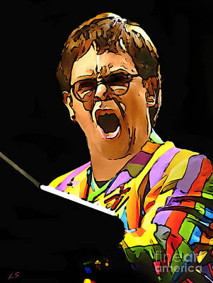 Drawing -  Elton John - 01 by Sergey Lukashin