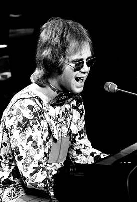 Elton John 1970 #3 Print by Chris Walter