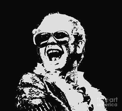 Elton John Mixed Media - Elton John Art by Pd