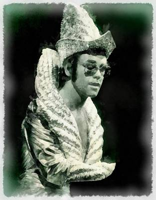 Recently Sold - Portraits Royalty-Free and Rights-Managed Images - Elton John by John Springfield by Esoterica Art Agency